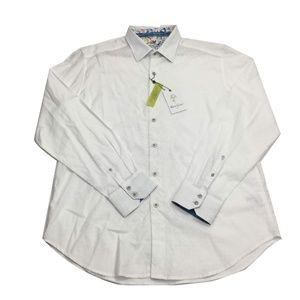 NWT Robert Graham Wove Abstract Embroidered Shirt